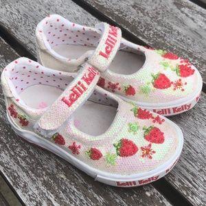 Sz 22 Lelli Kelly Beaded Strawberry Shoes